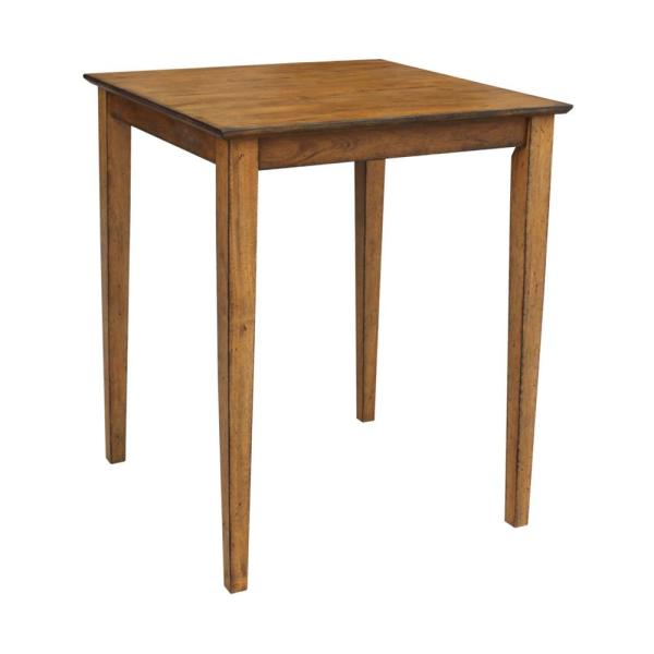 International Concepts Distressed Pecan 30'' Square Counter-height Table K59-3030-36S