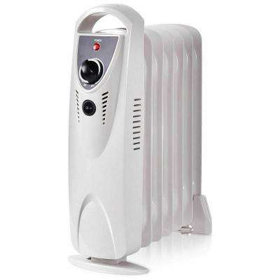700-Watt Portable Electric Oil-Filled Radiator Heater Space Heater with Thermostat Room Radiant Heat