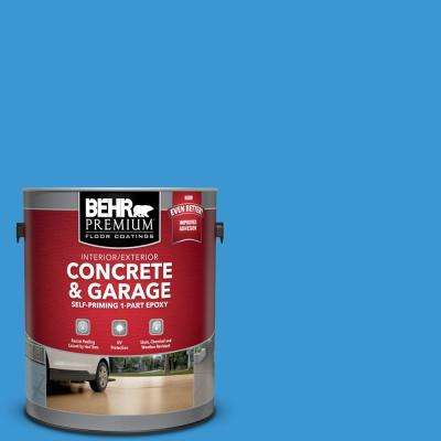 1 gal. #P510-5 Perfect Sky Self-Priming 1-Part Epoxy Satin Interior/Exterior Concrete and Garage Floor Paint