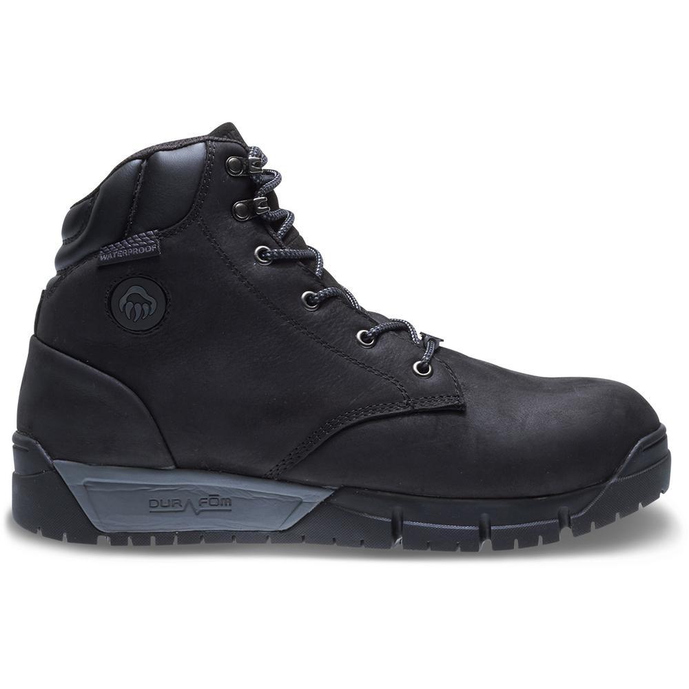 161a8a80d68 Wolverine Men's Mauler LX Size 7.5M Black Premium Waterproof Leather 6 in.  Composite Toe Boot