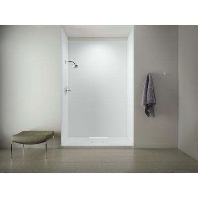 Choreograph 60in. X 36 in. x 96 in. 5-Piece Shower Wall Surround in White for 96 in. Showers