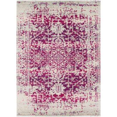 Harput Fang White 5 ft. 3 in. x 7 ft. 3 in. Indoor Area Rug