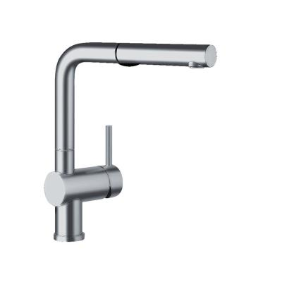 Linus Single-Handle Pull-Out Sprayer Kitchen Faucet in Satin Nickel