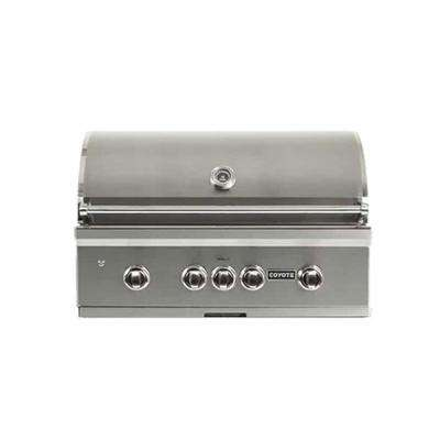S-Series 4-Burner Built-In Natural Gas Grill in Stainless with Rotisserie
