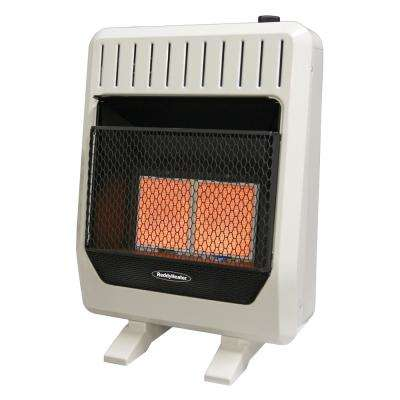 20,000 BTU Unvented Infrared Natural Gas Wall Heater with Thermostat and Blower