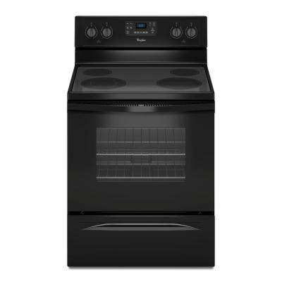 5.3 cu. ft. Electric Range with Self-Cleaning Oven in Black with SteamClean Option