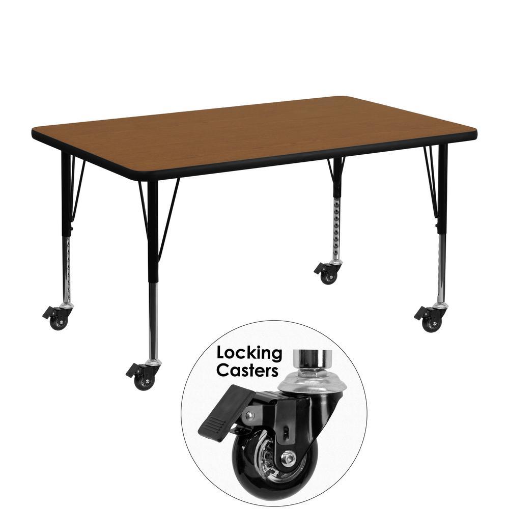 Flash Furniture Oak Kids Table XUA3048RECOKHPC