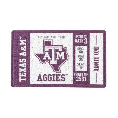 Texas A and M 30 in. x 18 in. Vinyl Indoor/Outdoor Turf Floor Mat