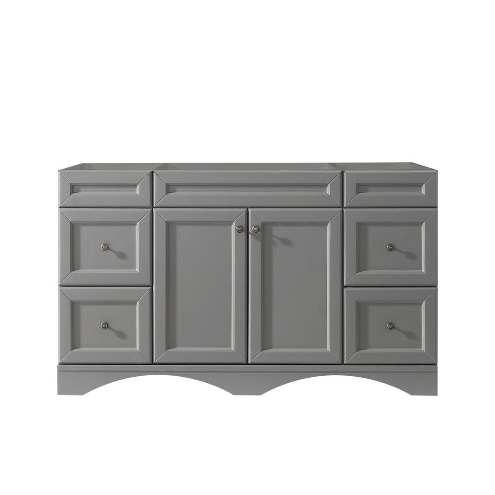 Virtu Usa Talisa 60 In W X 21 In D Vanity Cabinet Only In Grey Es 25060 Cab Gr The Home Depot