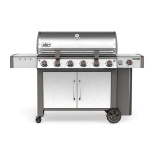 Weber Genesis II LX S-640 6-Burner Propane Gas Grill in Stainless Steel with Built-In Thermometer and Grill Light by Weber