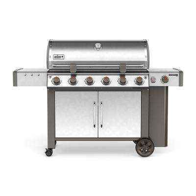 Genesis II LX S-640 6-Burner Propane Gas Grill in Stainless Steel with Built-In Thermometer and Grill Light
