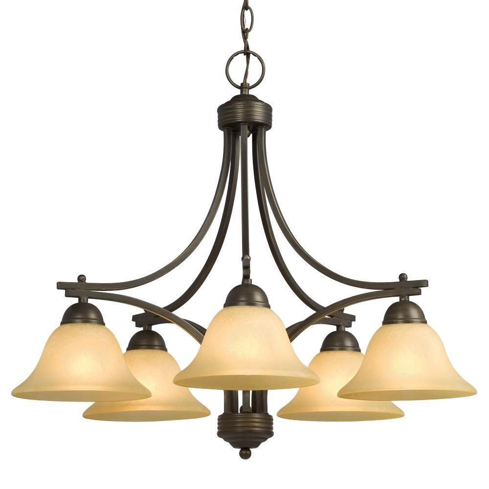Filament Design Negron 5-Light Oil Rubbed Bronze Incandescent Chandelier