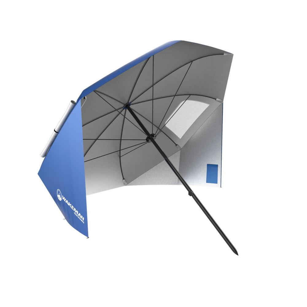 Wakeman 7 ft. Market Patio Umbrella in Blue