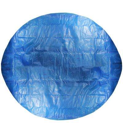 8.5 ft. Durable Apertured Round Prompt Set Swimming Solar Above Ground Pool Cover with Rope Ties