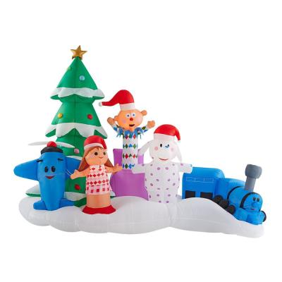 9.5 ft. W Inflatable Island of Misfit Toys Scene