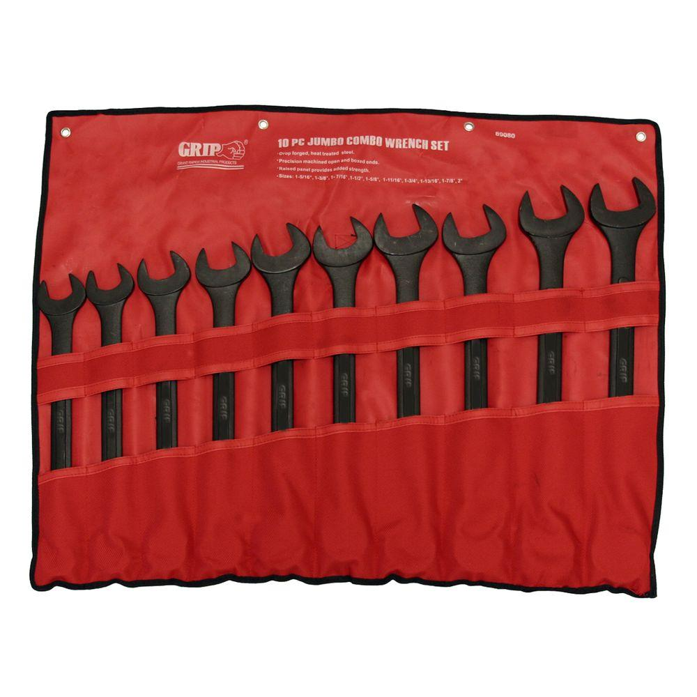 Jumbo SAE Combination Wrench Set (10-Piece)