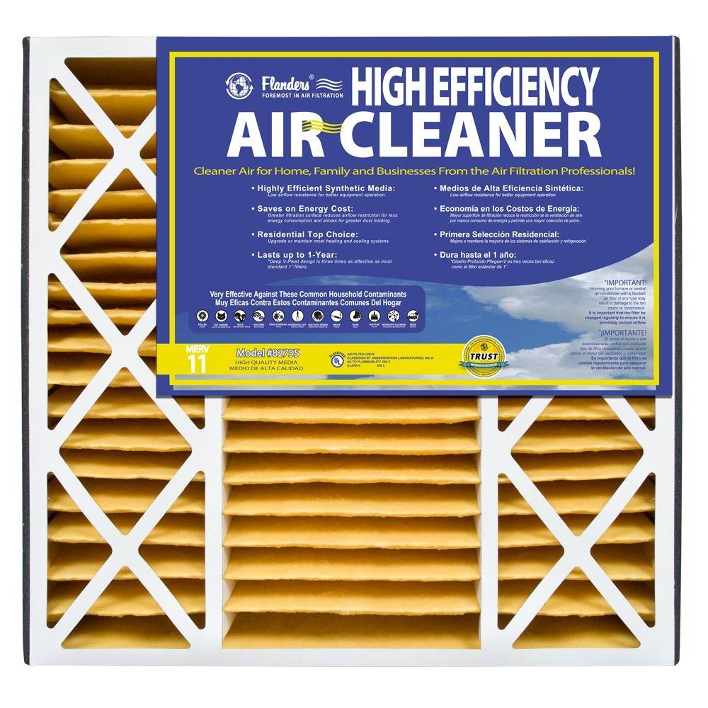 Flanders PrecisionAire 20 in. x 20 in. x 4.5 in. Air Cleaner MERV 11 Pleated Air Filter (Case of 2)