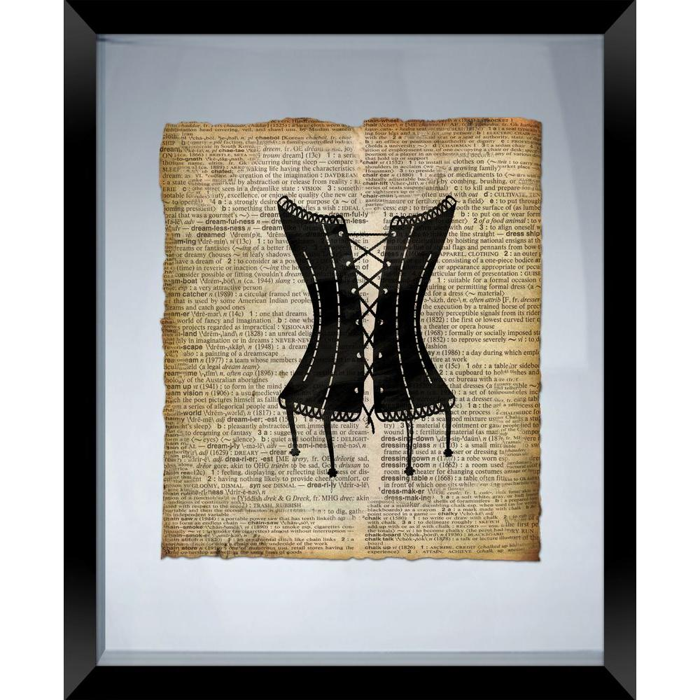 """PTM Images 22 in. x 18 in. """"Corset"""" Framed Wall Art"""
