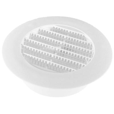 4 in. White Round Soffit Vent (4-Pack)