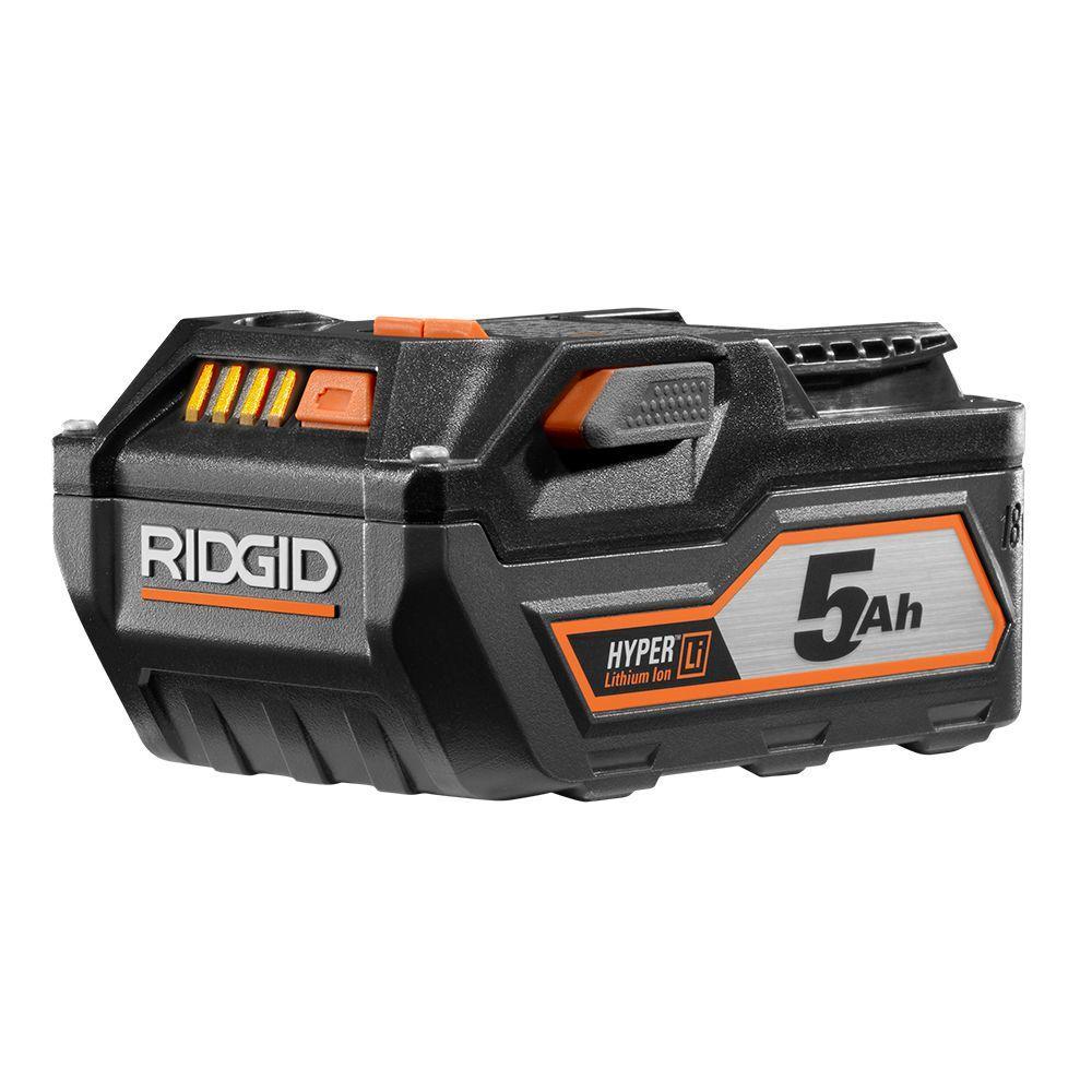 Ridgid 18-Volt HYPER Lithium-Ion High Capacity Battery Pack 5.0Ah