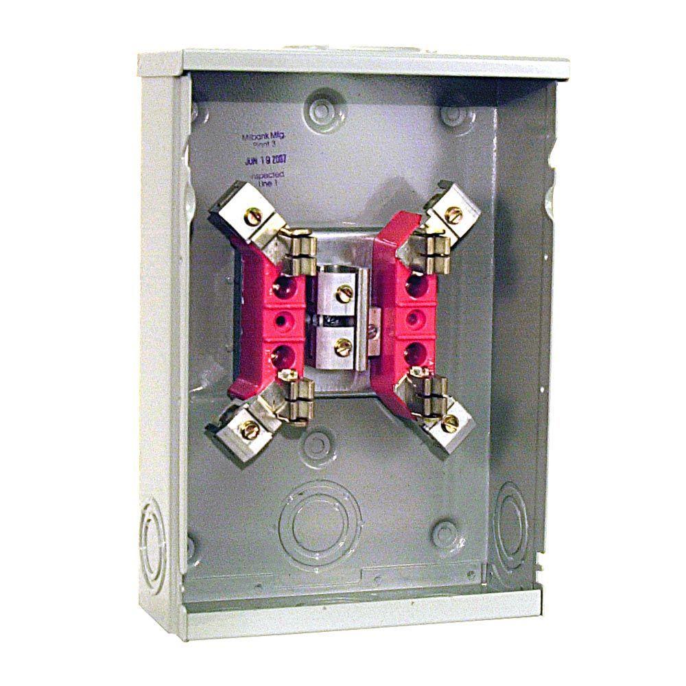 125 Amp 4 Terminal Ringtype Overhead/Underground Meter Socket