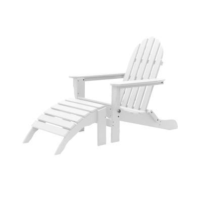 Icon White 2-Piece Plastic Folding Adirondack Chair