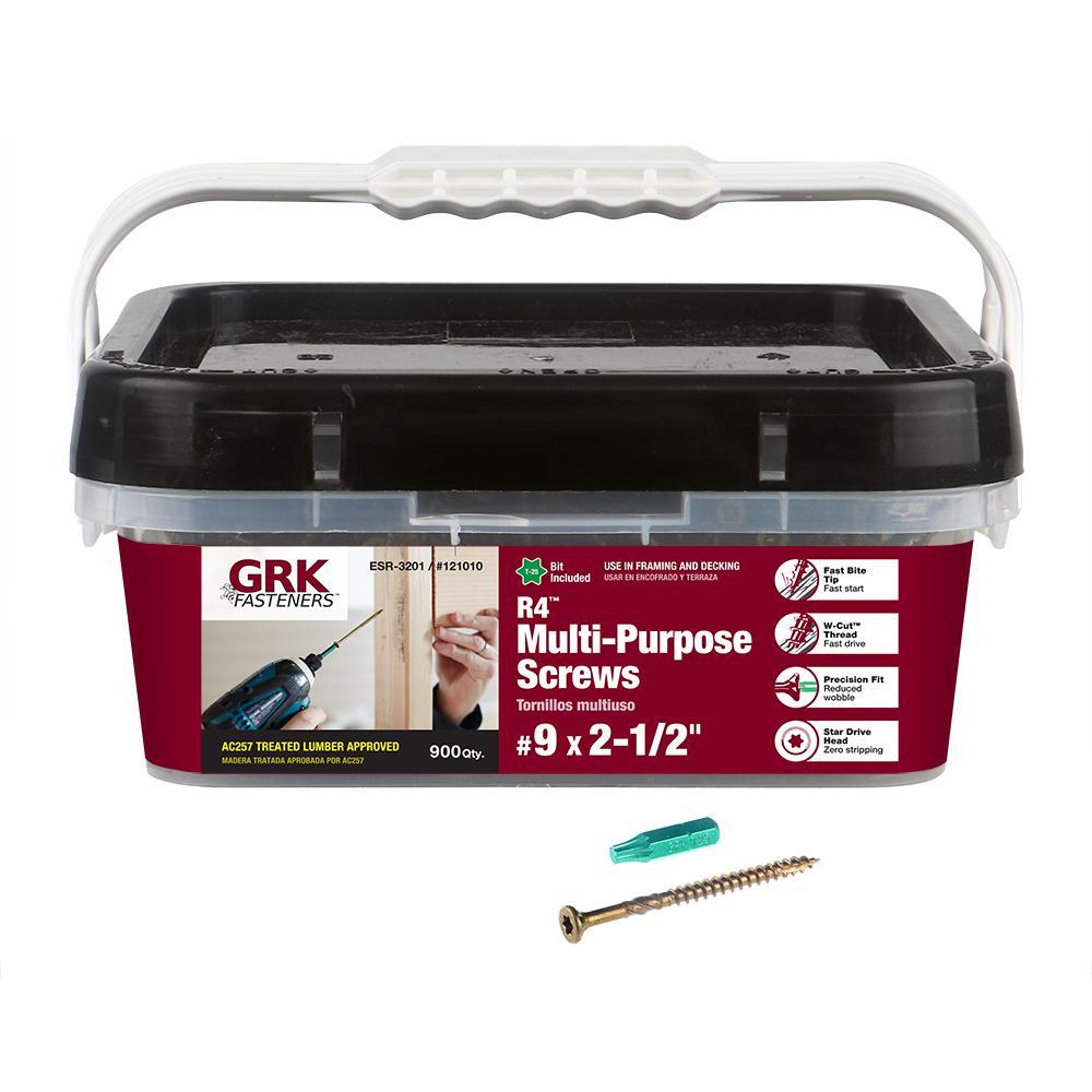 Fixings and Fasteners General Purpose Screws 200pk various sizes