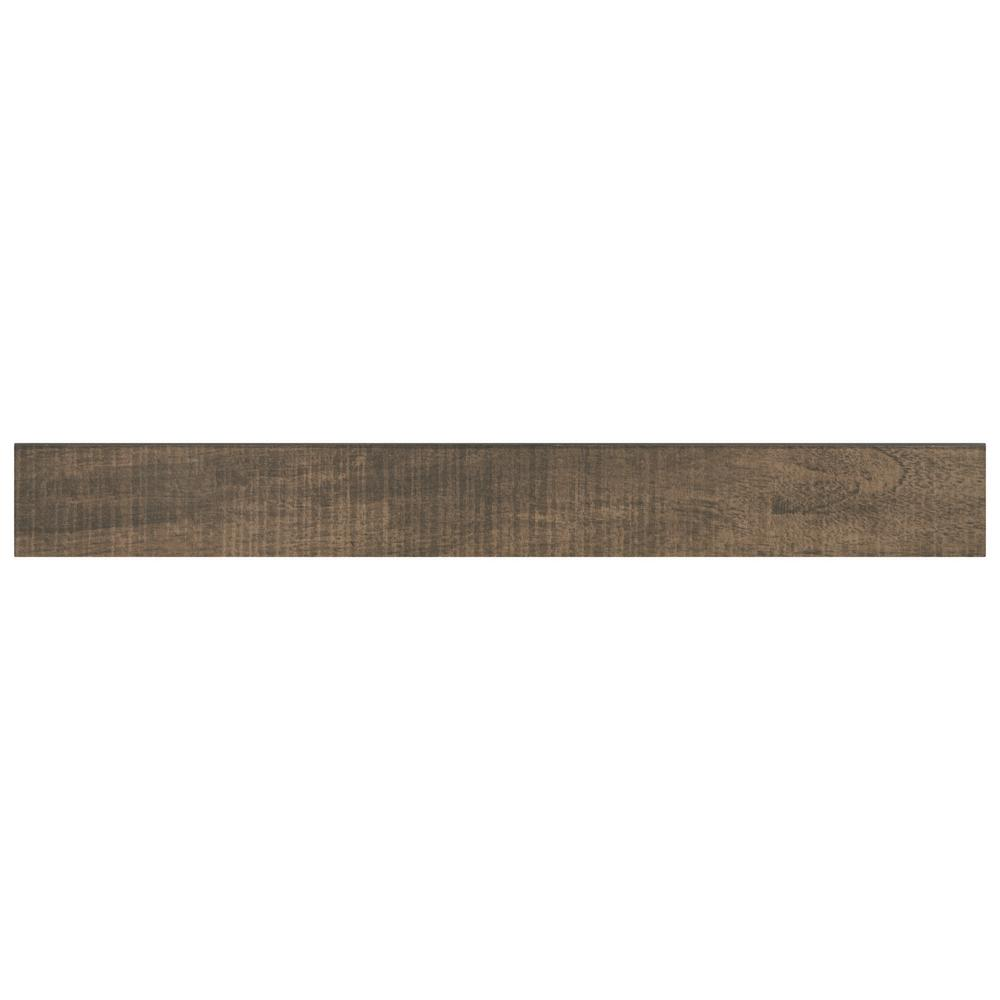 Daltile Brentwood Walnut 3 in. x 24 in. Glazed Porcelain Bullnose Floor and Wall Tile (0.48 sq. ft. / piece)