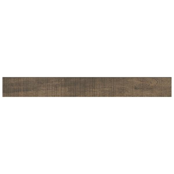 Brentwood Walnut 3 in. x 24 in. Glazed Porcelain Bullnose Floor and Wall Tile (0.48 sq. ft. / piece)