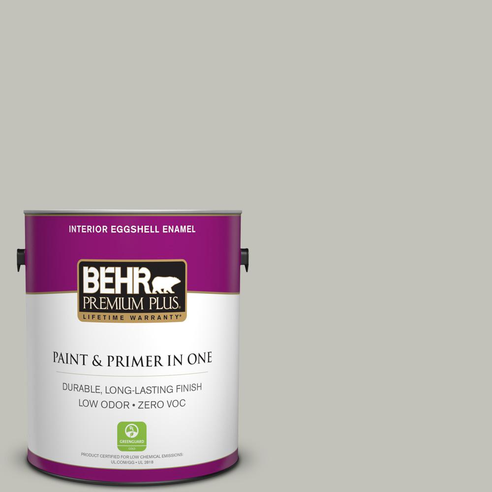 1 gal. #PPU25-09 Foggy London Zero VOC Eggshell Enamel Interior Paint