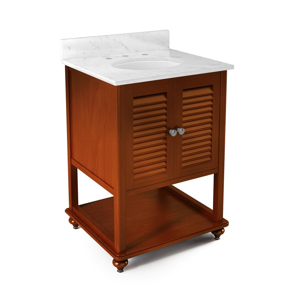 Alaterre Furniture Tahiti 25 in. W x 22 in. D Vanity in C...
