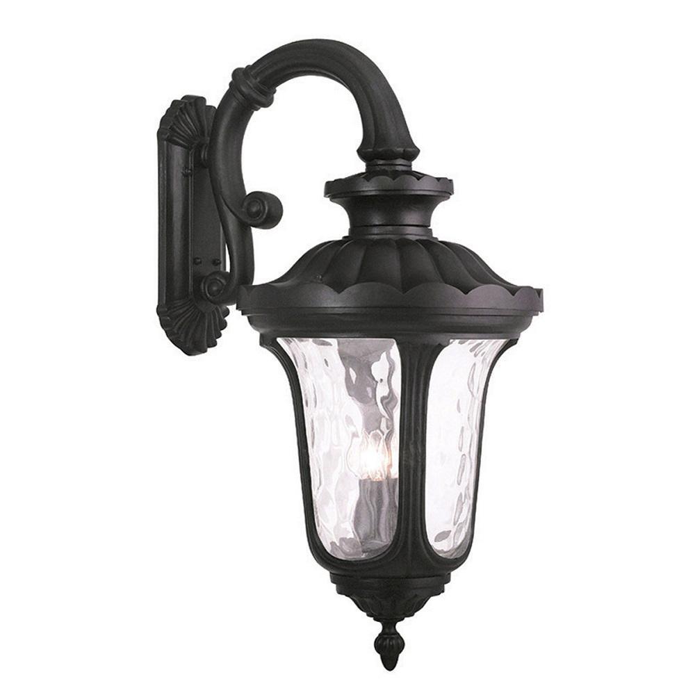 La 4-Light Black Outdoor Wall Lantern