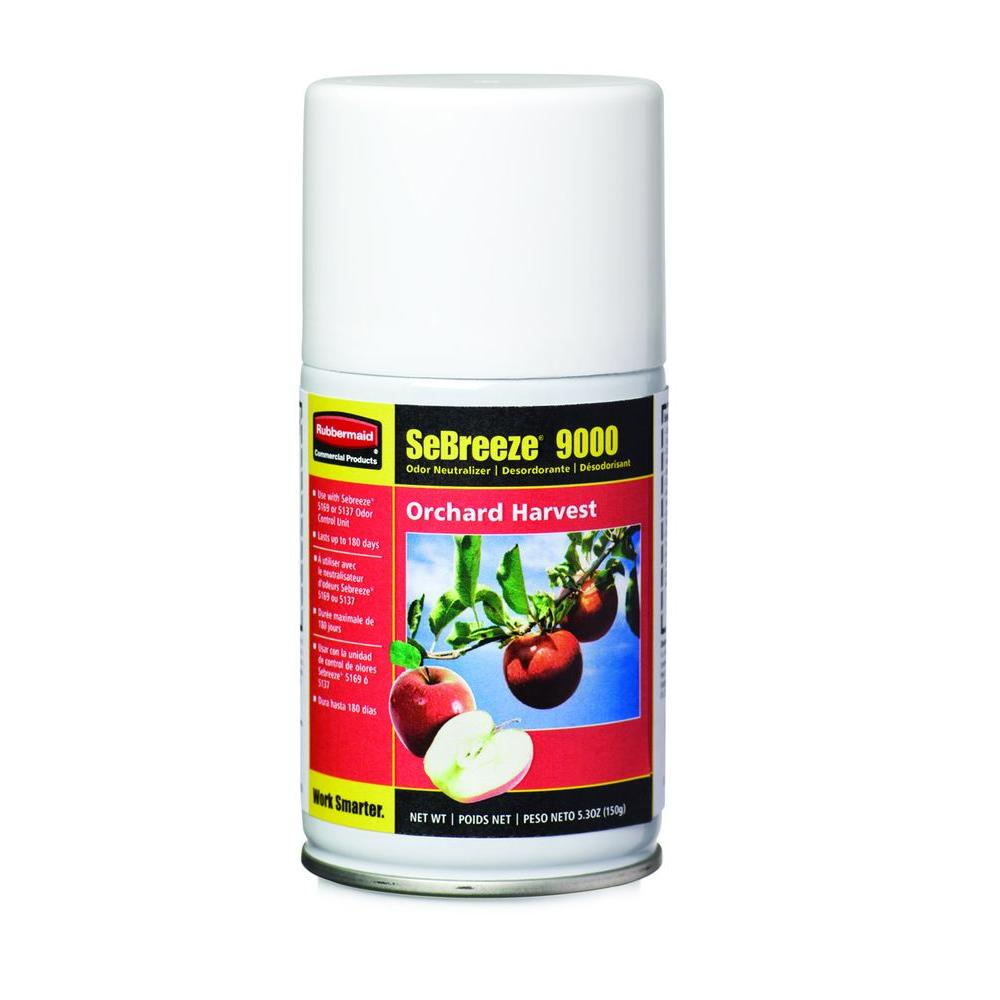 Rubbermaid Commercial Products SeBreeze 9000 Series Citrus Breeze Odor Neutralizer Aerosol Canister (Case of 4)