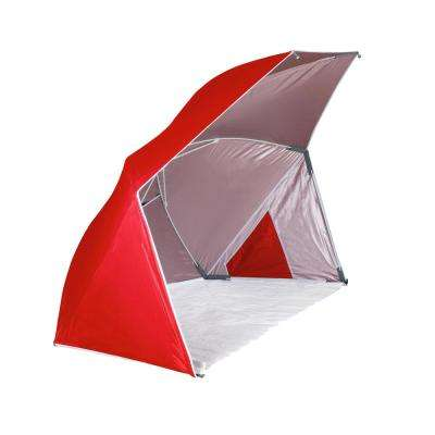Brolly Red Beach Umbrella Tent