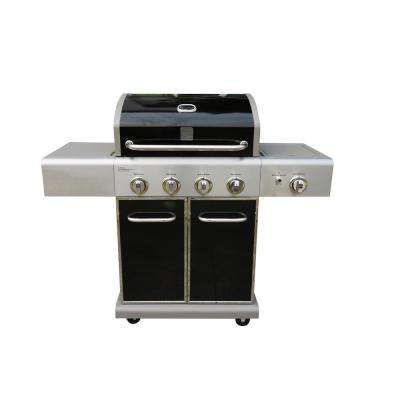4 Burner Grill plus Searing Side Burner in Black