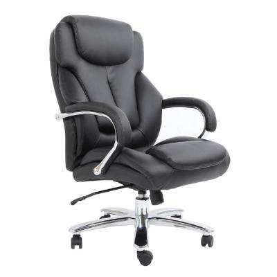 Admiral III Black Big And Tall Executive Bonded Leather Chair