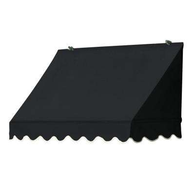 4 ft. Traditional Manually Retractable Awning (26.5 in. Projection) in Ebony