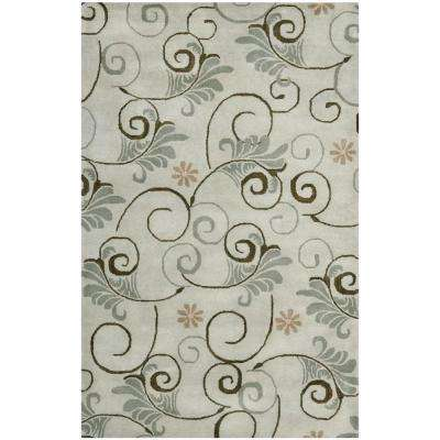 Soho Grey/Multi 3 ft. 6 in. x 5 ft. 6 in. Area Rug