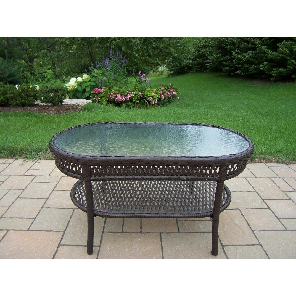 Oakland Living Wicker Outdoor Coffee Table-HD90092-CT-CF