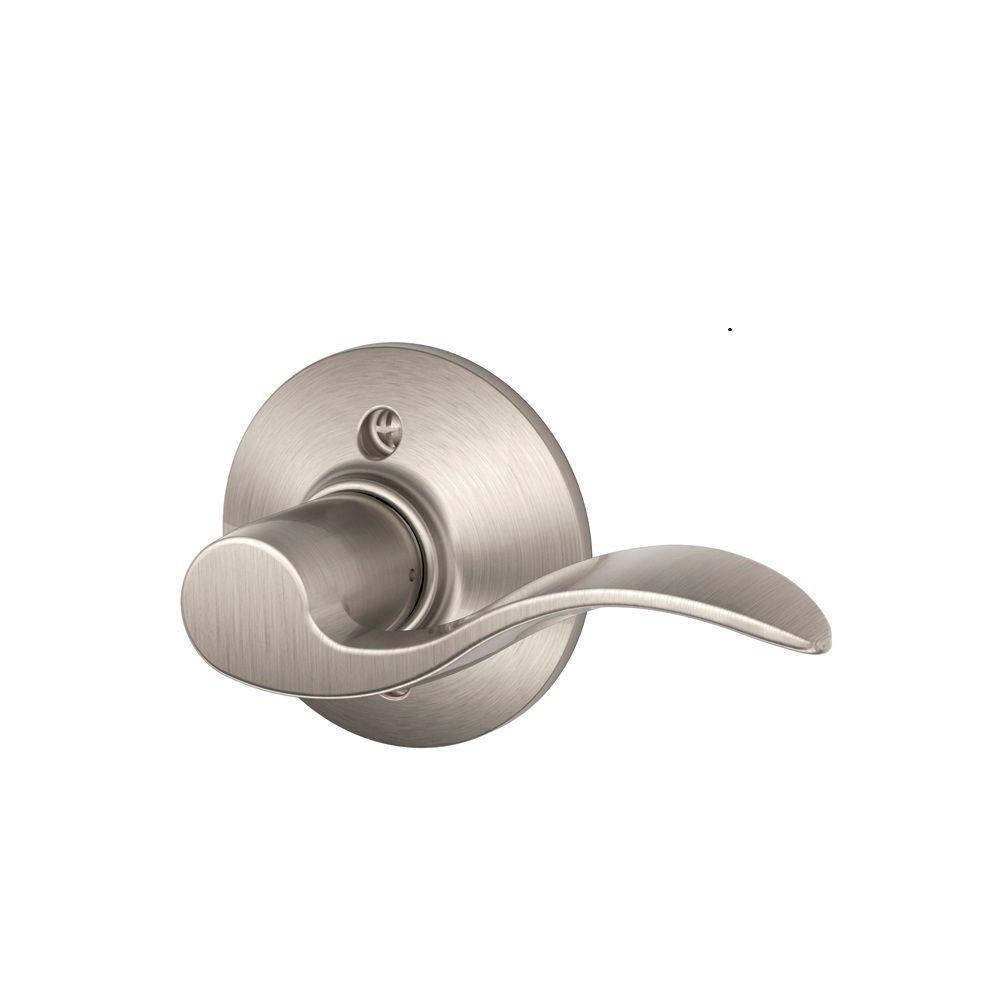 Schlage accent satin nickel right handed dummy door lever - Contractor pack interior door knobs ...