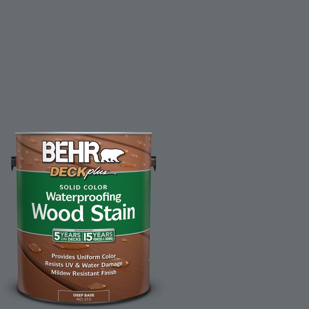 1 gal. #770F-5 Dark Ash Solid Color Waterproofing Wood Stain