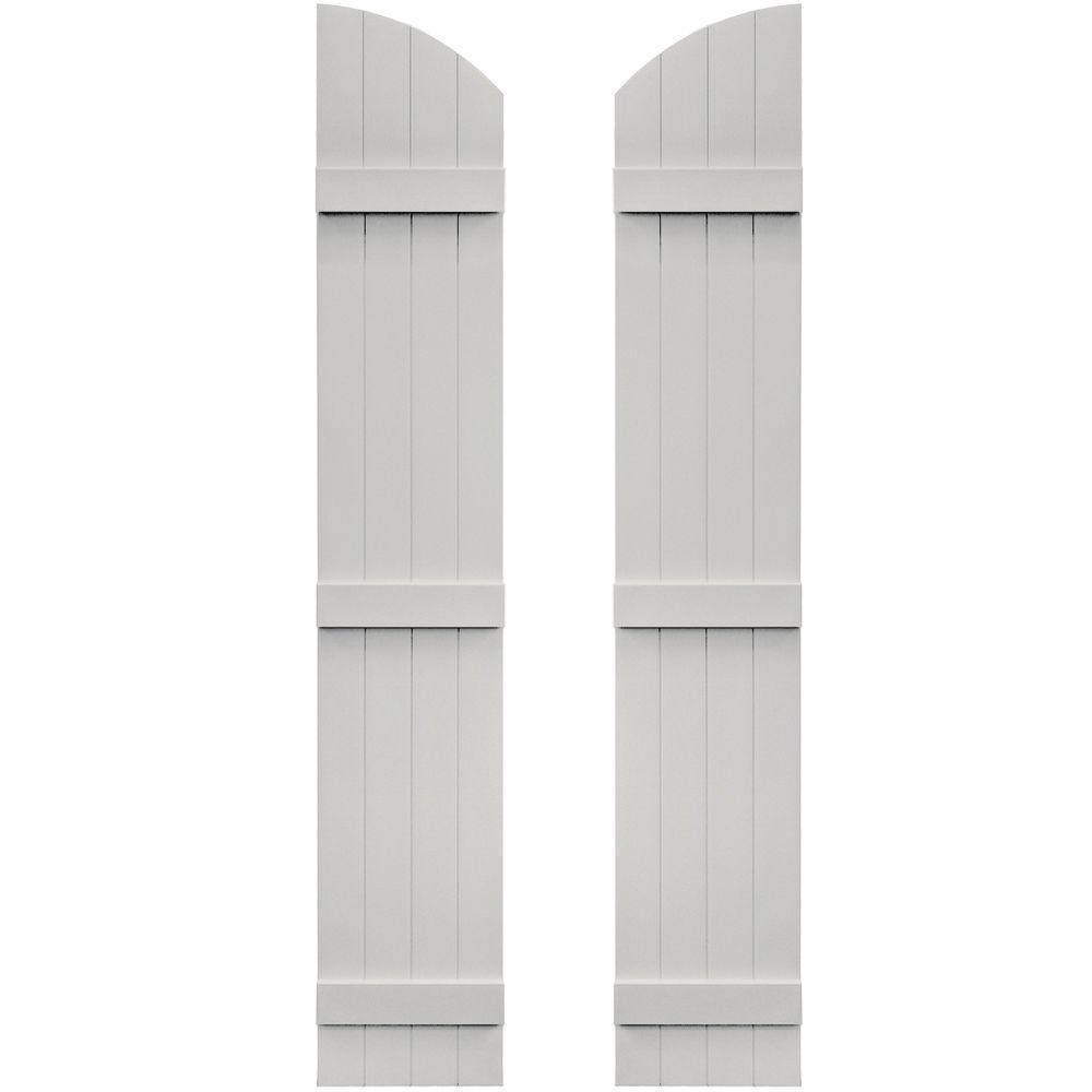14 in. x 77 in. Board-N-Batten Shutters Pair, 4 Boards Joined
