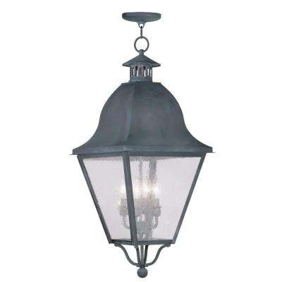Providence 4-Light Hanging Outdoor Charcoal Incandescent Lantern