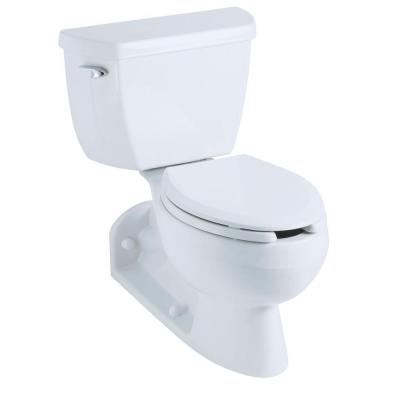 Barrington 4 in. Rough-In 2-piece 1.6 GPF Pressure Lite Single Flush Elongated Toilet with Toilet Tank Locks in White