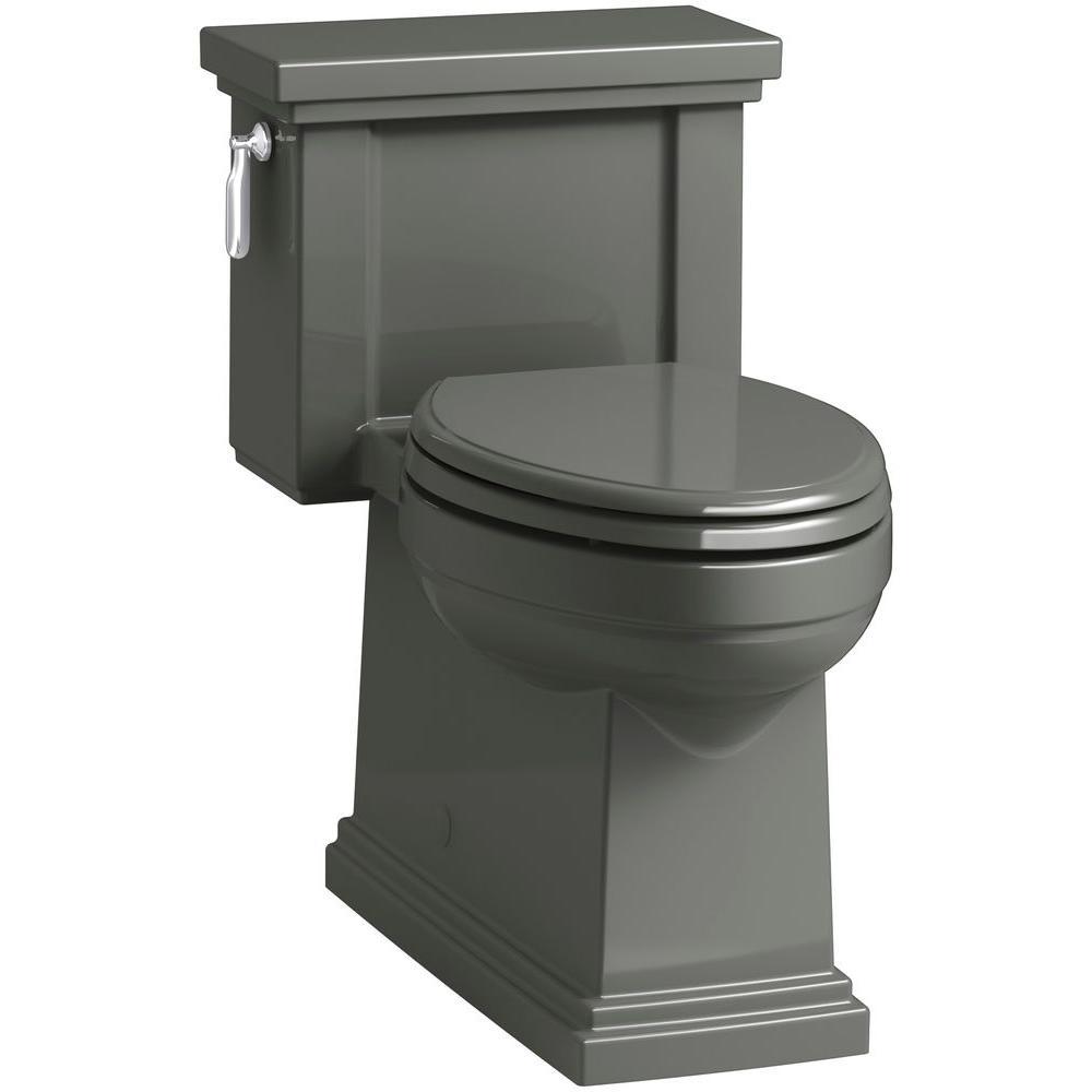 kohler tresham 1 piece gpf single flush elongated toilet in thunder grey k 3981 58 the. Black Bedroom Furniture Sets. Home Design Ideas
