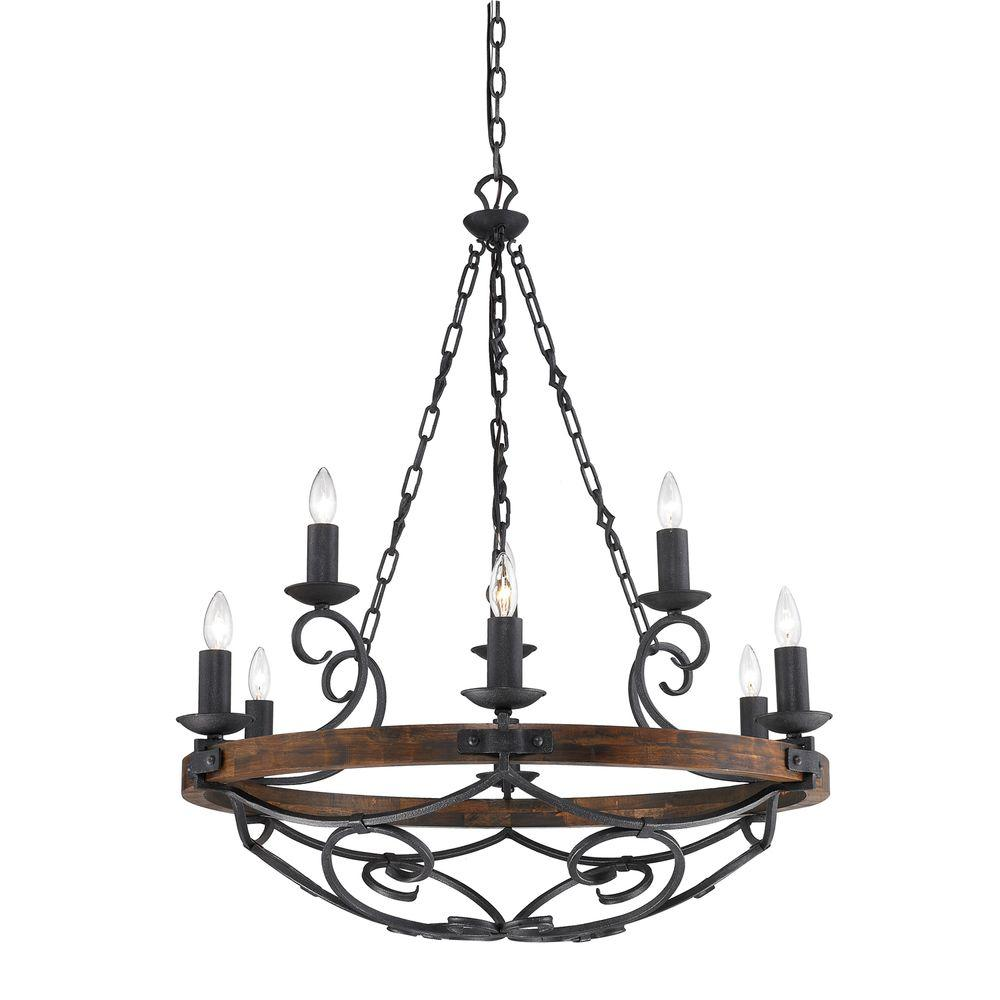 Black Iron Kitchen Chandelier