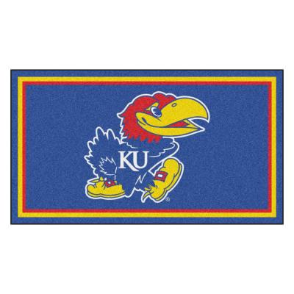 NCAA University of Kansas 3 ft. x 5 ft. Ultra Plush Area Rug
