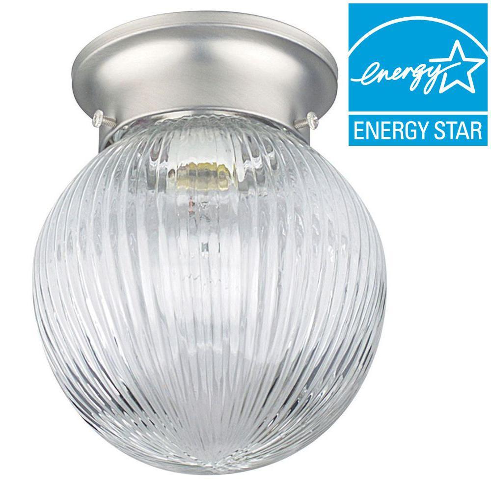 Coburn 1-Light Satin Nickel Flush Mount