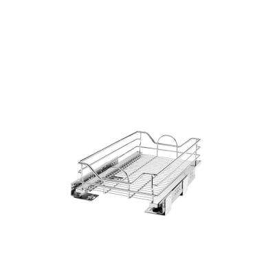 6 in. H x 14.31 in. W x 21.75 in. D Chrome Pull-Out Basket with Soft-Close Slides