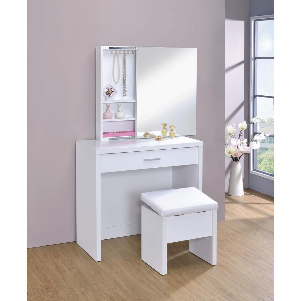 Coaster Home Furnishings 2 Piece Vanity Set With Hidden
